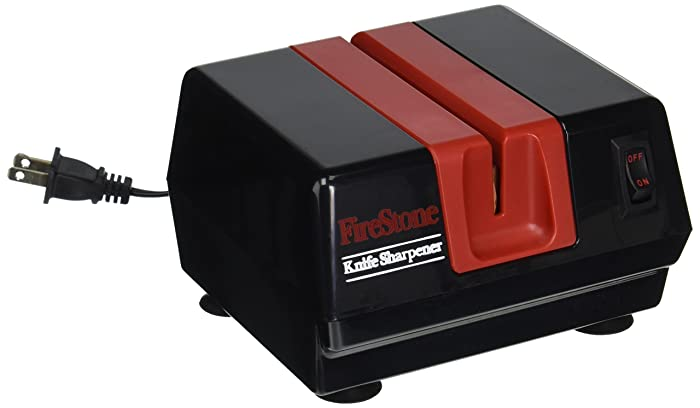 Mcgowan Firestone Electric Sharpener, Black/Red