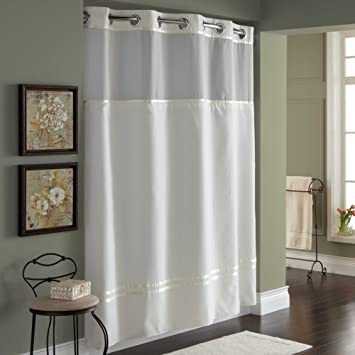 Amazon.com: 71-Inch x 74-Inch Fabric Shower Curtain and Shower ...