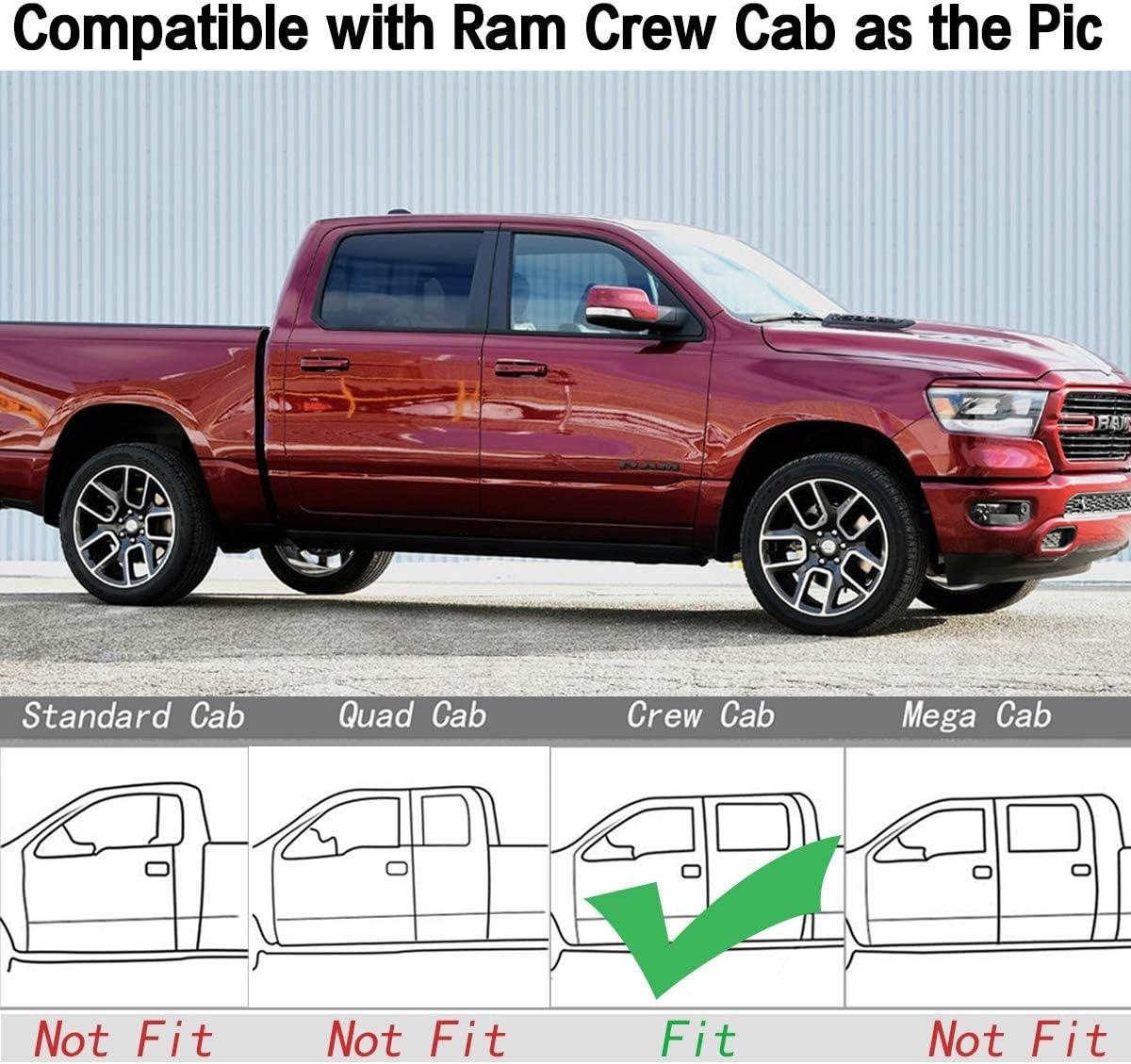 Megiteller Car Floor Mats Custom Fit for 2019 Ram 1500 Classic Crew Cab,2013 2014 2015 2016 2017 2018 Dodge Ram 1500//2500//3500 Crew Cab Odorless Rubber All Weather Floor Liners Blue