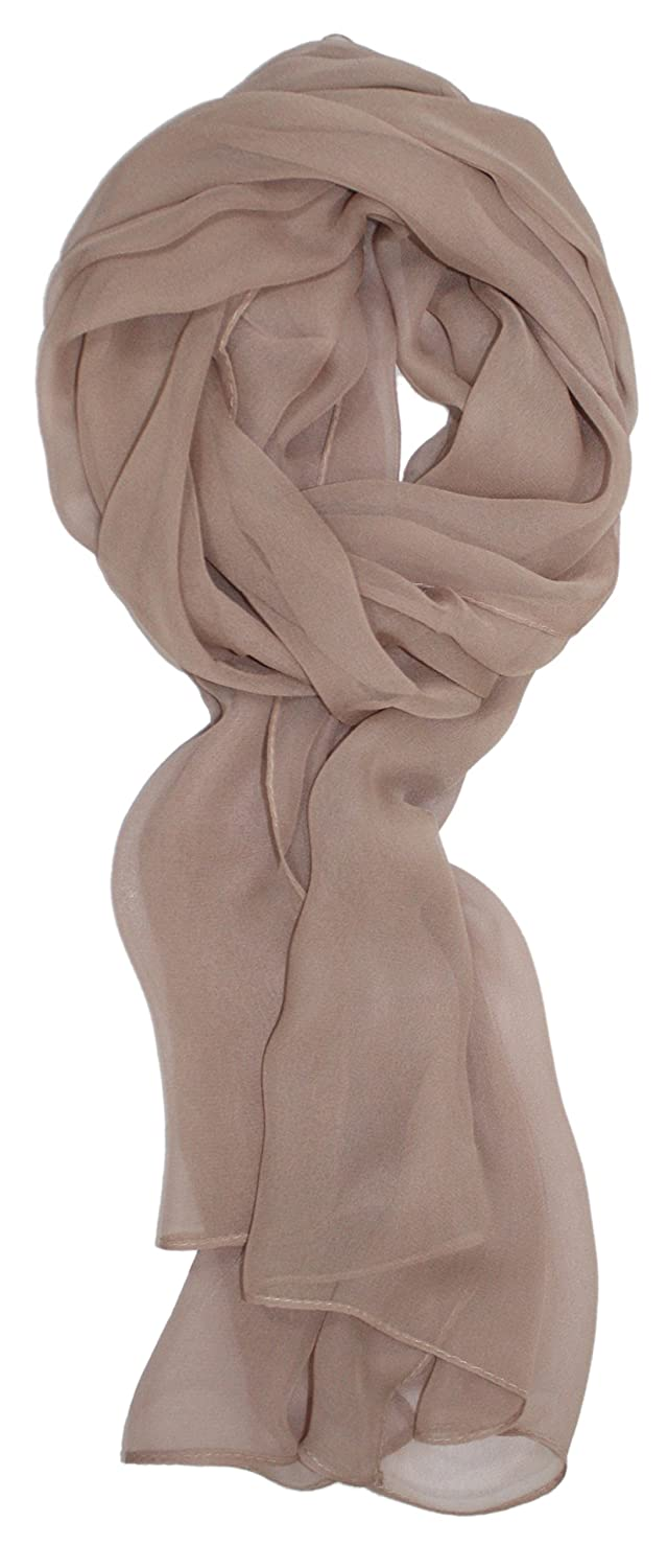 Ted and Jack - Solid Color Silk Blend Lightweight Accent Scarf W100240BURG