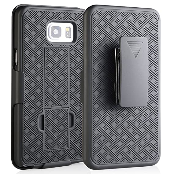 los angeles 5276a e32ba COVERLABUSA Comptiable for Galaxy Note 5 Case - Shell Holster Combo Case  for Samsung Galaxy Note 5 with Kick-Stand & Belt Clip (At&t, Verizon, ...