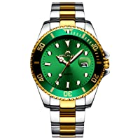 Watches Men's Waterproof Gold Stainless Steel Large Watch Sport Business Fashion Design Dress Date Calendar Analogue Quartz Hard Watch