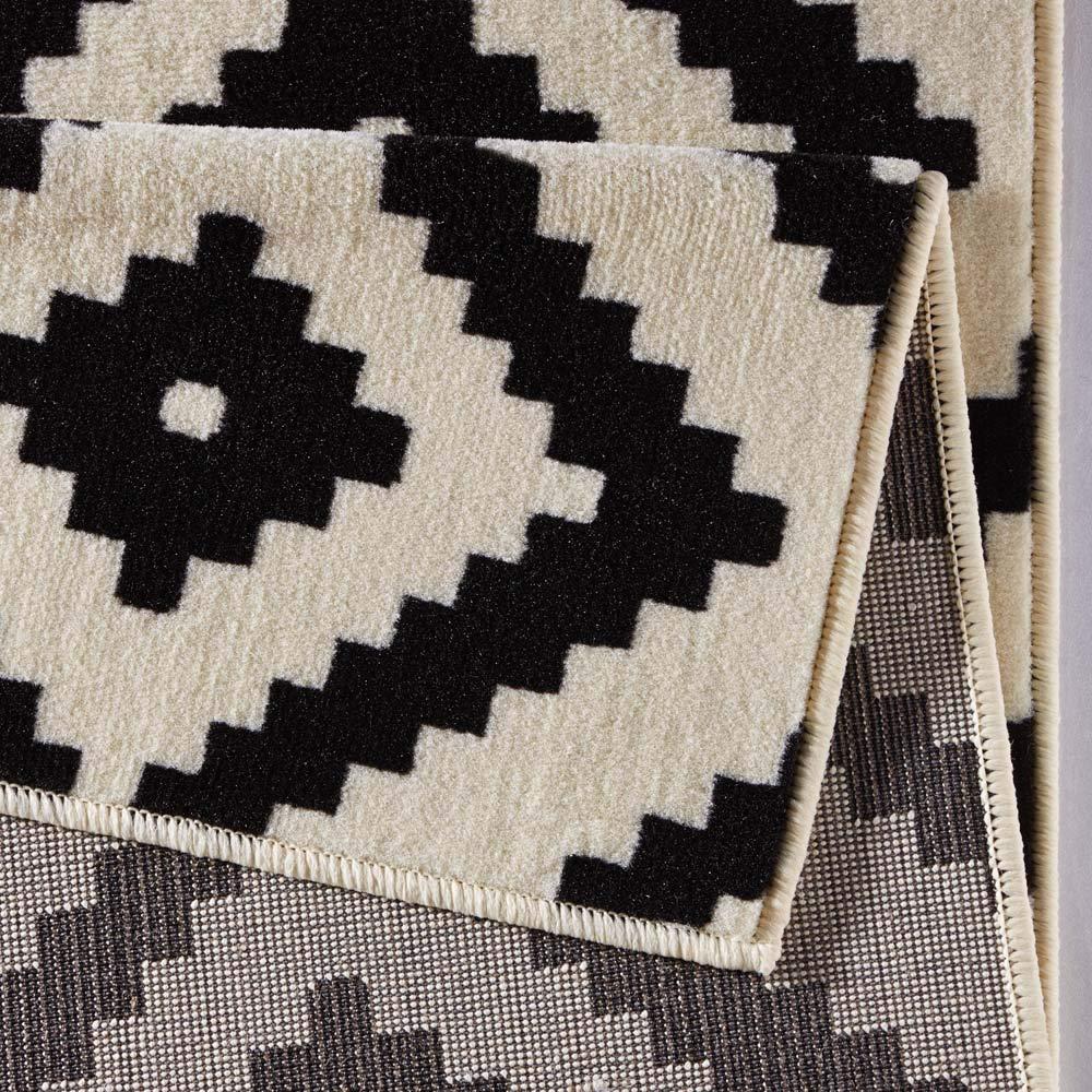 HANSE Home Designer Velours Raute Schwarz Creme Teppich Läufer Bettumrandung Bettumrandung Bettumrandung Brücke Polypropylen 120 x 170 x 0.9 cm B015I7P3E2 Teppiche & Lufer 2241bc