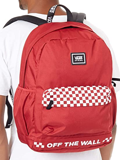 Vans - Backpack - WM Sporty Realm Plus Scooter RED (ONE Size)   Amazon.co.uk  Clothing