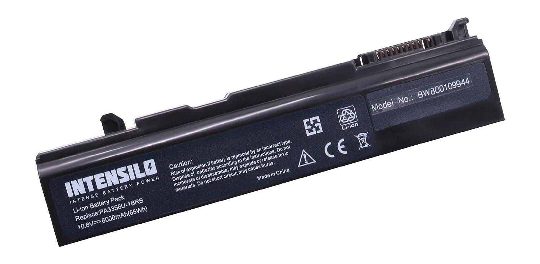 INTENSILO Li-Ion Batería Notebook 6000mAh (10.8V) para Notebook Batería Laptop Toshiba Tecra S4-126, S4-127, S4-133, S5, S5-11K, S5-11S por PA3356U-1BRS, PABAS071 6c18d9