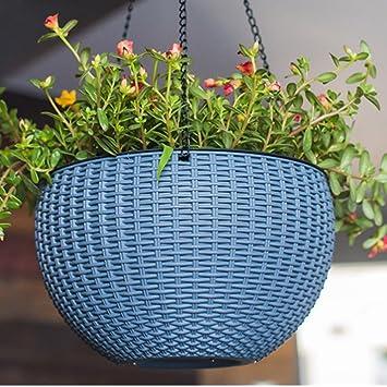 Fiori E Piante Da Giardino.Gyman Plastica Rotondo A Forma Di Vaso Cestino Gancio Fiori E