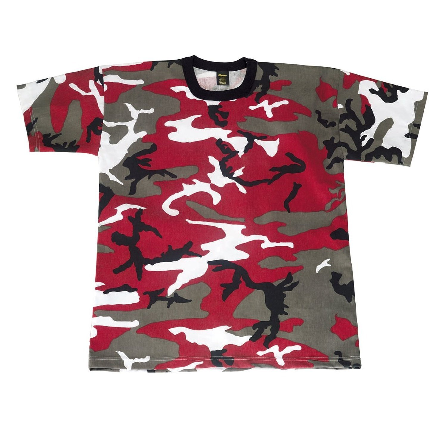 Amazon.com: Red Camouflage Military T-Shirt (Polyester/Cotton ...