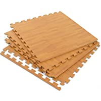 eHomeKart Pablo Honey Wooden Flooring -EVA Kid's Interlocking Play Mat with 10 mm Thickness,60 x 60 cm Each Tile-Set of 8 Tiles