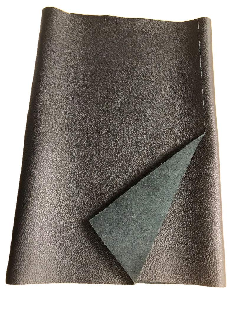 LEATHER HIDES - COW SKINS VARIOUS COLORS & SIZES (BLACK, 10 Square Foot)