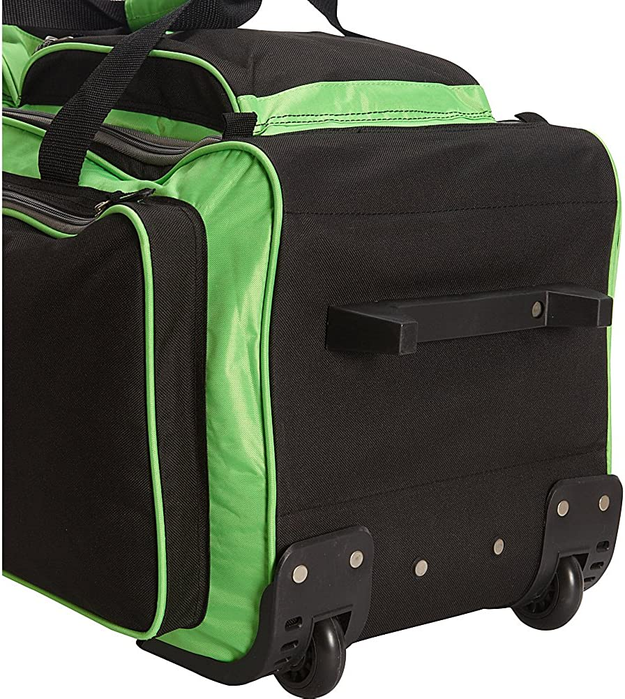Travelers Club Xpedition 30 Inch Rolling Multi-Pocket Upright Duffel