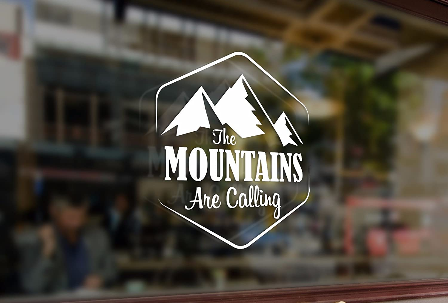 25cm The MOUNTAINS Are Calling Climbing Vinyl Stickers Funny Decals Bumper Car Auto Computer Laptop Wall Window Glass Skateboard Snowboard Bananasticker