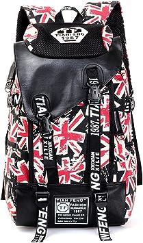 Unique Adult Backpack Canvas School Bag Teenage Boys Large Cartoon Letters Printing Backpacks Travel Bags