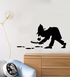 Vinyl Wall Decal Sherlock Holmes Detective Sleuth Policeman Stickers 895