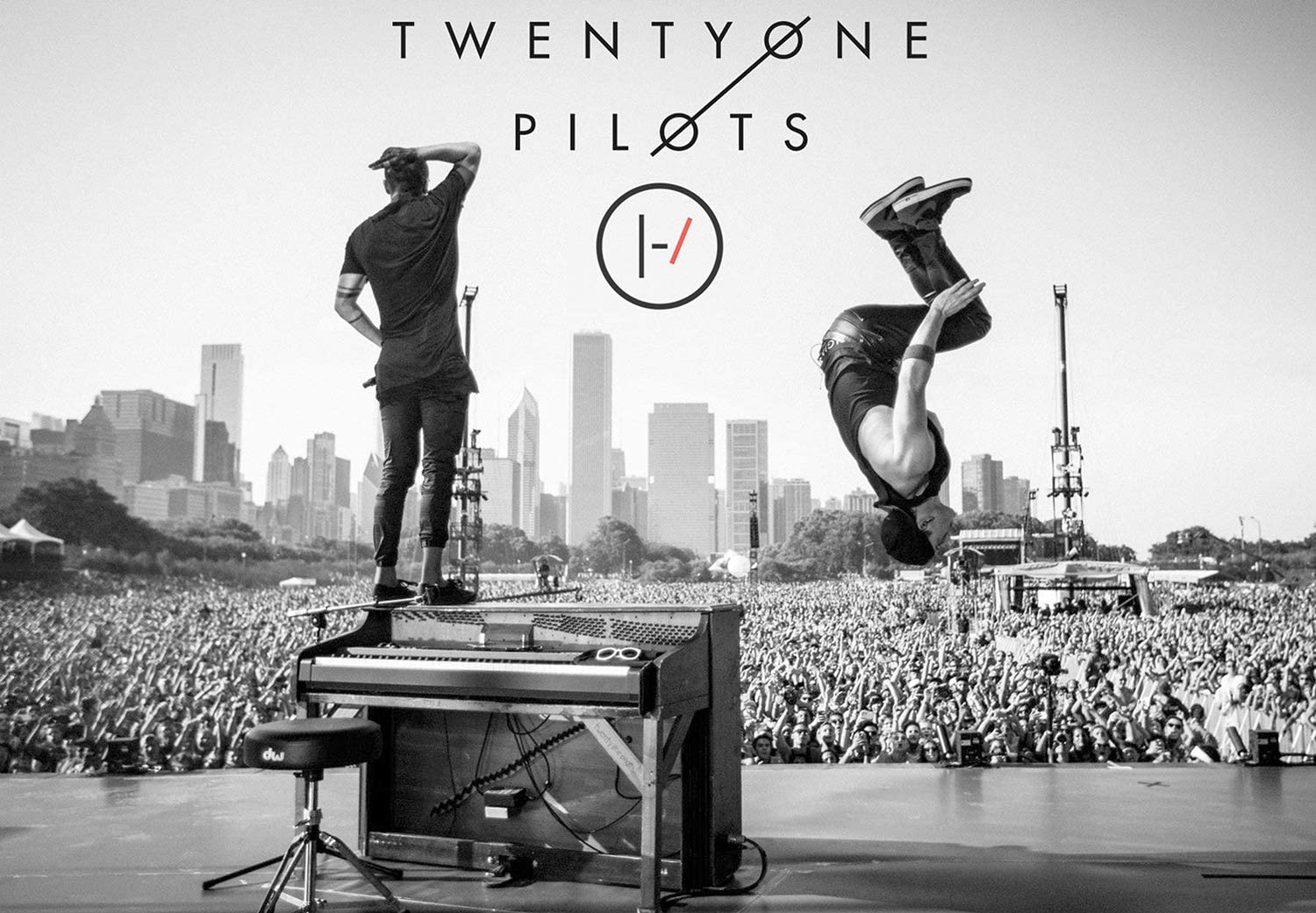 """Rock-Poster 21 BlurryFace Posters and Prints Unframed Wall Art Gifts Decor - Tyler shoots and Josh Back Flips off Tyler's Piano 16x25"""""""