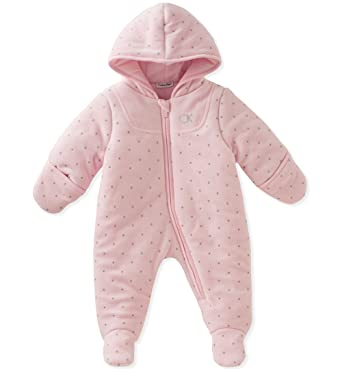 f164bbc0f Amazon.com  Calvin Klein Baby Girls  Velour Pram  Clothing