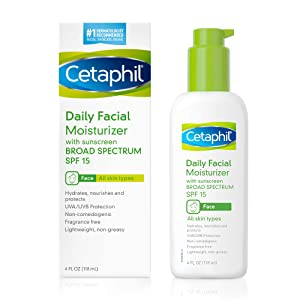 Cetaphil Face Moisturizer, Daily Moisturizer for Face with SPF for All Skin Types, 4 oz (Pack of 2)