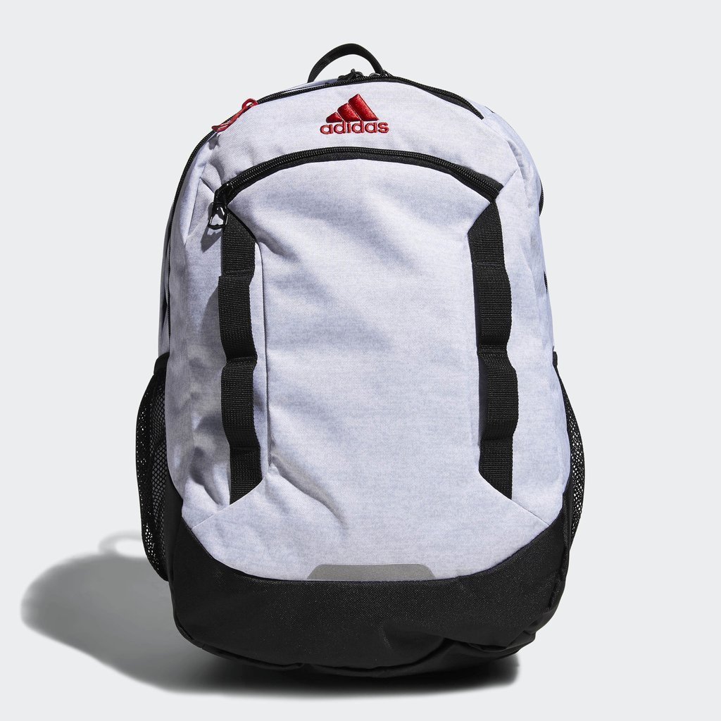 adidas Excel Iv Backpack, White Jersey/Black/Scarlet, One Size