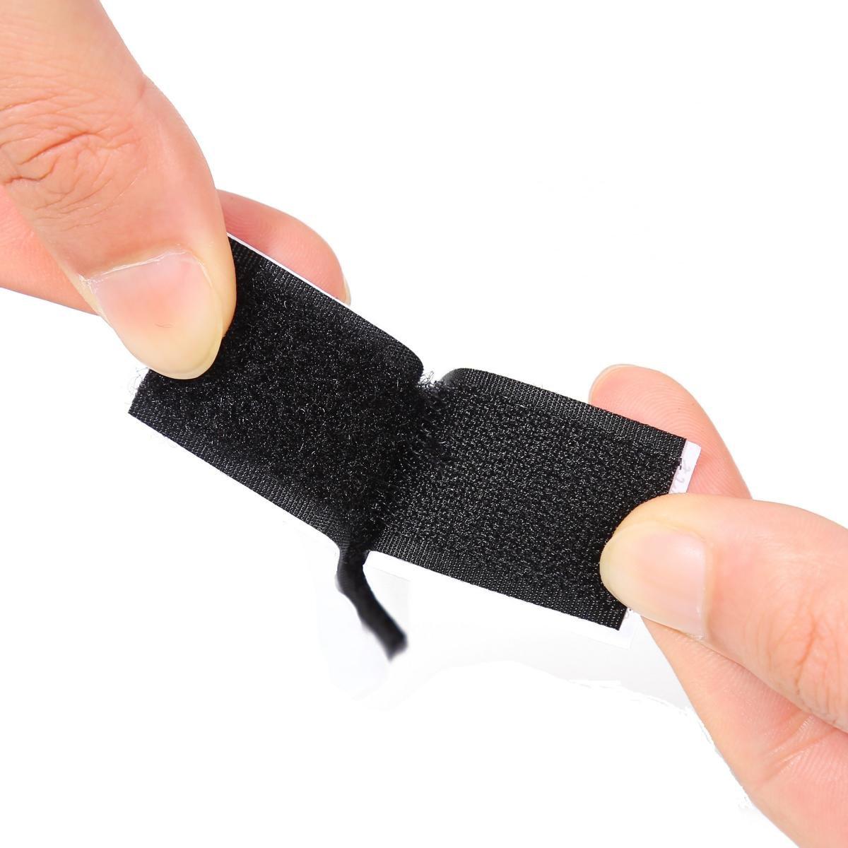 ZADAWERK® Klettband selbstklebend Klettverschluss (25mmx1m, Schwarz)