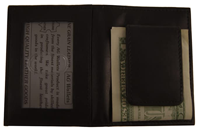 3c210211c5d71 Image Unavailable. Image not available for. Color  AG Wallets Mens Leather  Bifold Magnetic Money Clip ...