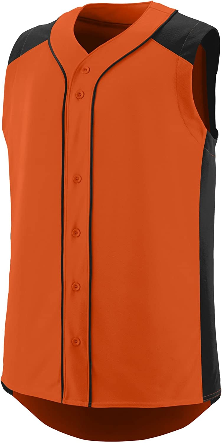 Augusta Sportswear Boys' Sleeveless Slugger Baseball Jersey S Orange/Black