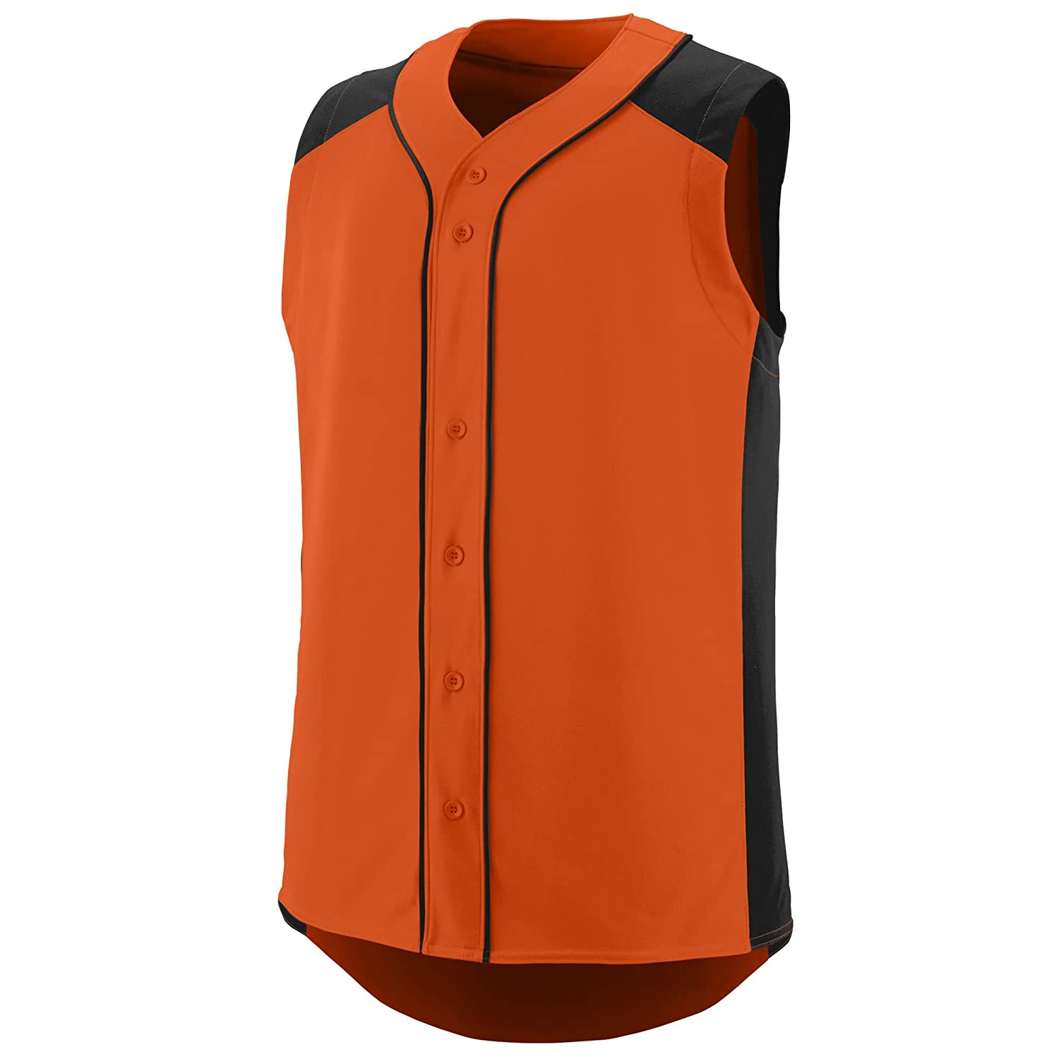 Augusta Sportswear Boys' Sleeveless Slugger Baseball Jersey L Orange/Black