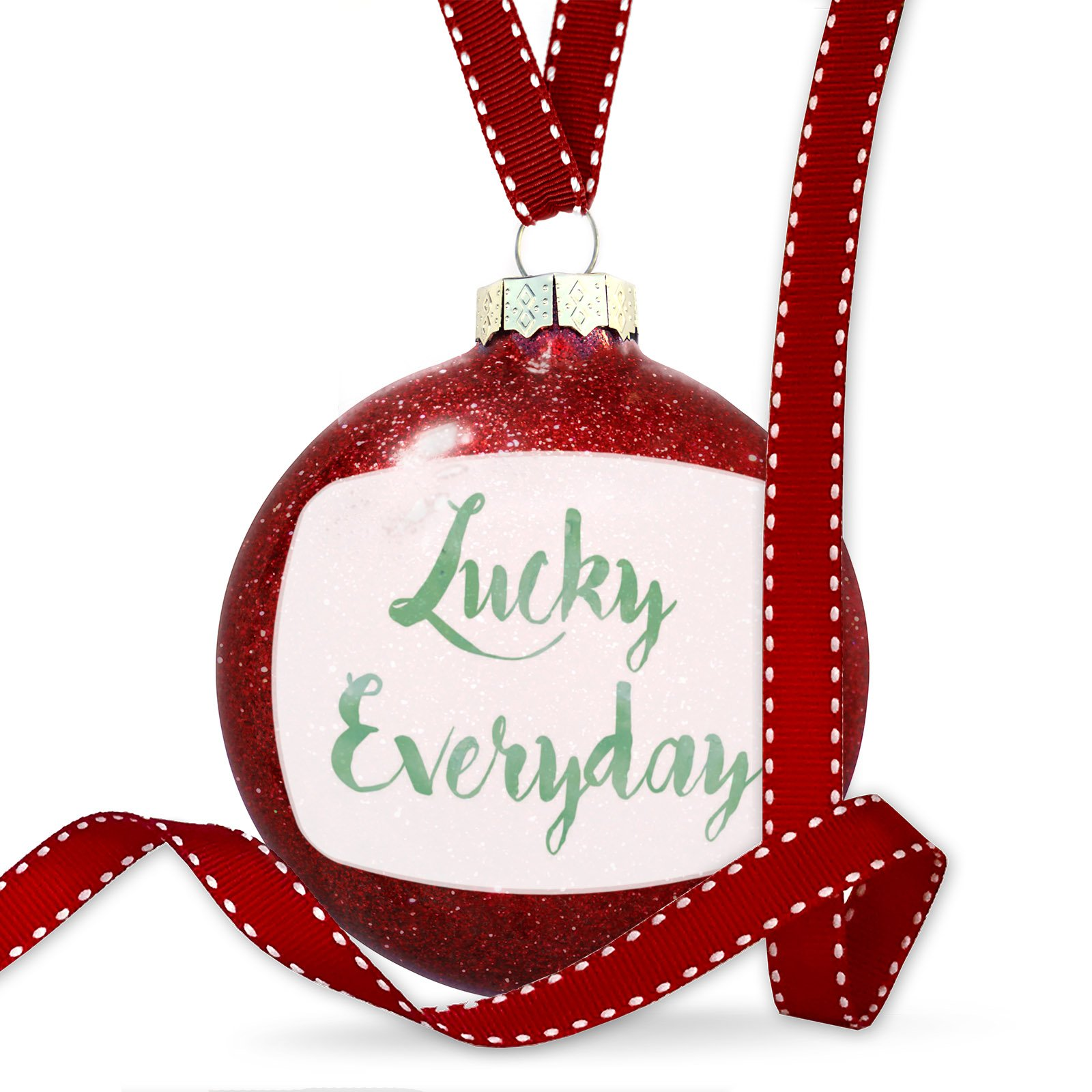 Christmas Decoration Lucky Everyday St. Patrick's Day Green Watercolor Ornament by NEONBLOND