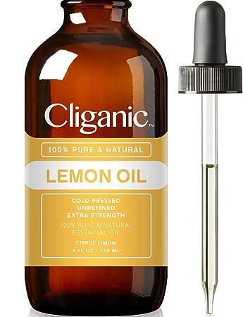 Cliganic 100% Pure Lemon Essential Oil (4oz) | Natural Lemon Oil for Skin