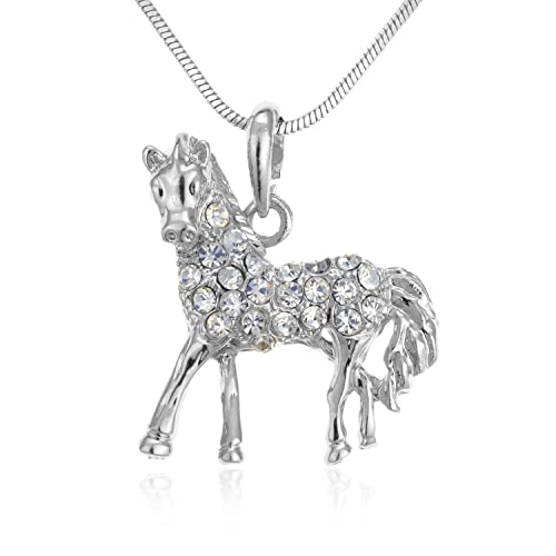 Amazon pammyj horse charm with clear crystals pendant necklace pammyj horse charm with clear crystals pendant necklace 17quot mozeypictures Gallery