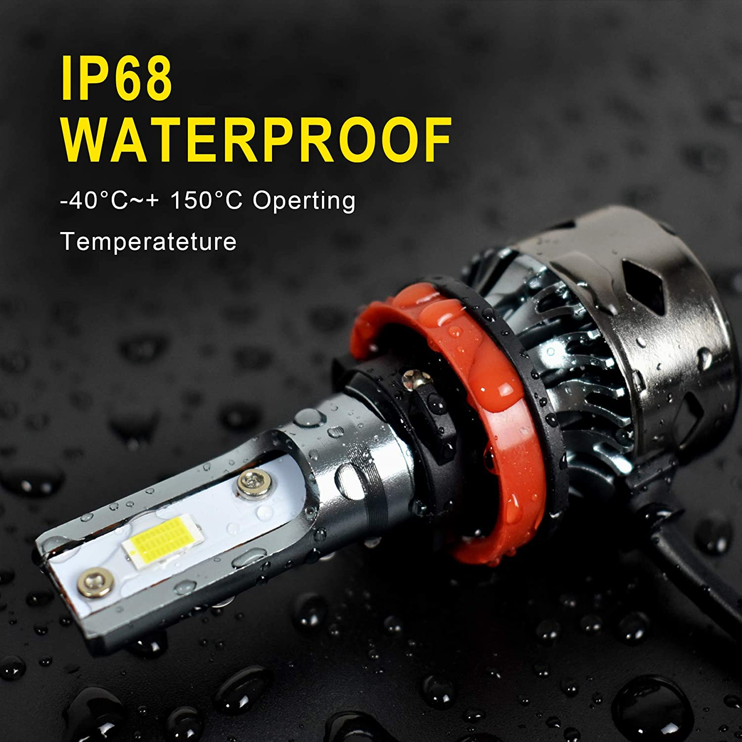 H11 LED Headlight Bulbs Conversion Kit 10,000 LM Extremely Brigh 6500K Xenon White 2 Years Warranty for High Beam Low Beam