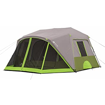 Ozark Trail 9-Person Instant Cabin Tent C&ing Outdoors Family with Bonus Screen Room Green  sc 1 st  Amazon.com & Amazon.com : Ozark Trail 9-Person Instant Cabin Tent Camping ...