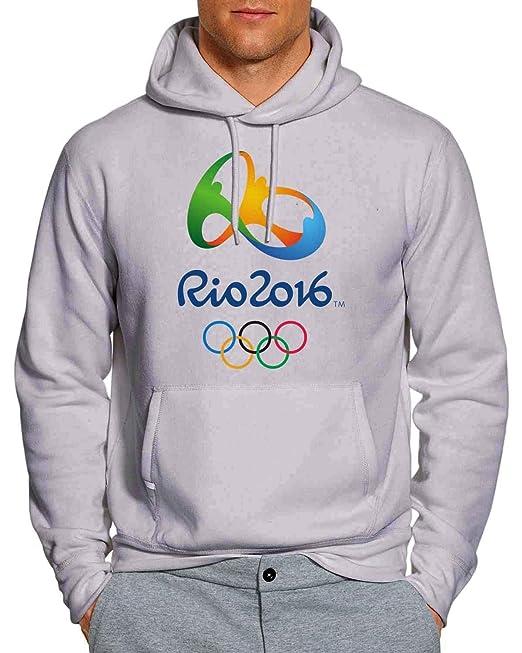 Rio 2016 Juegos Olímpicos 2 sudadera con capucha Unisex adultos WB - Gris - : Amazon.es: Ropa y accesorios