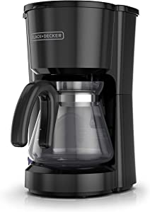 BLACK+DECKER 5-Cup Coffee Maker, Compact Design