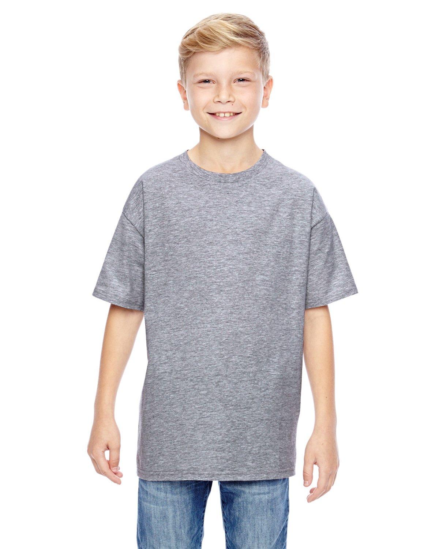 Hanes Big Boys' Nano Premium Cotton T-Shirt Pack of 3, Light Steel, Medium