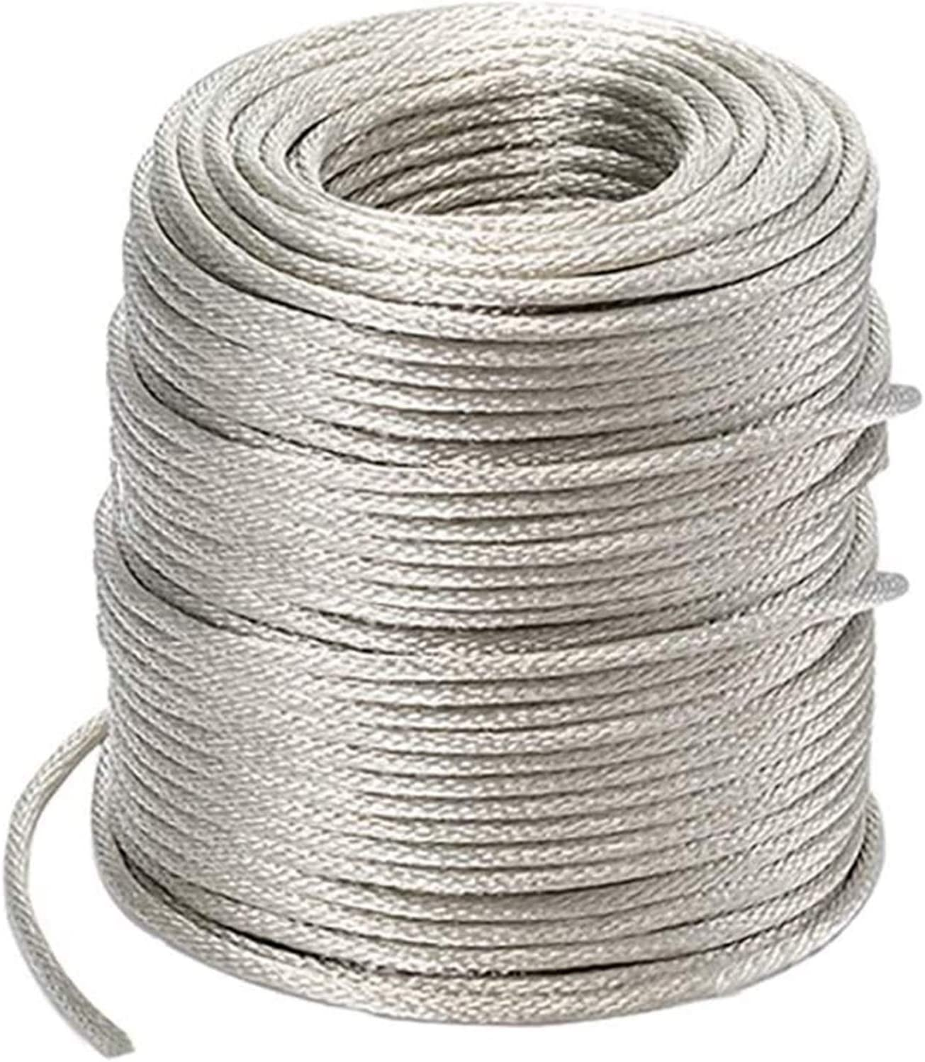 YUESFZ Braided Copper Wire tinned Drain Lead Cable Electric Stranded Round Bare Flexible Grounding Conductive 1m Brass Wire