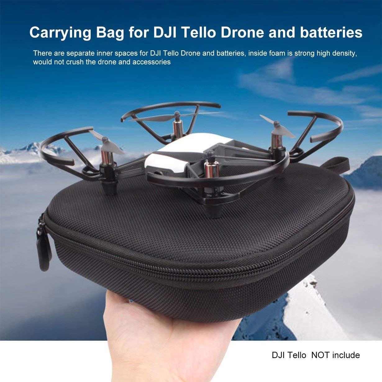 camellia/® Nouveau PU Drone Sac De Protection Portable Sac De Rangement Portable Bo/îte Sac /À Main Housse De Transport pour TELLO Accessoires De Drone noir