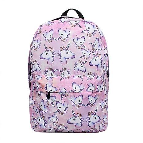 Buy Bonama Pink Unicorn Rainbow Bag Fantasy Backpack Rucksack School  Student Travel Bags (Pink) Online at Low Prices in India - Amazon.in 230ec8dc0b801