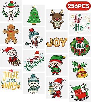 Amazon.com: Tatuajes temporales de Navidad para niños ...