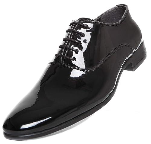 buy online 0974c 9a6d9 CAPRIUM Lackschuhe Smoking Schuhe Herren Hochzeitsschuhe Schnürhalbschuhe