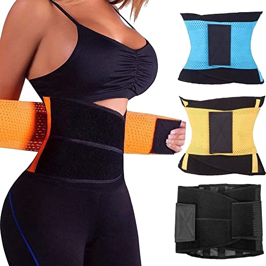 559418f6c8 Image Unavailable. Image not available for. Color  FUT Unisex Waist Trainer  Belt Body Shaper Girdle For An Hourglass Shapewear