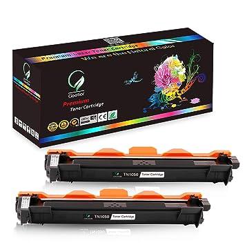 Gootior TN-1050 TN1050 Cartuchos de Tóner, 2 Negro Compatible para Brother DCP-1510 DCP-1512 DCP-1610W DCP-1612W HL-1110 HL-1112 HL-1210W HL-1212W ...