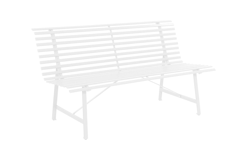 Wetterfest Gartenbank Sitzbank Gartenm/öbel Parkbank pflegeleicht und Zeitloses Aussehen Garten Bank Balkonbank 3 Sitzer Stahlrahmen 150 x 62 x 80 cm Anthrazit