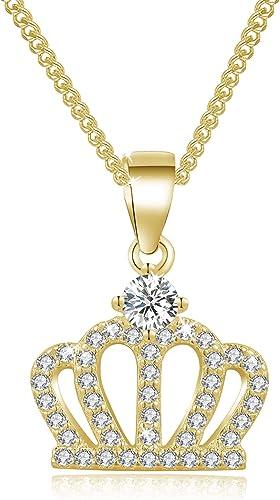 Queen Crown Charm Halskette PRINZESSIN KRONE HALSKETTE 925 Plated Silber