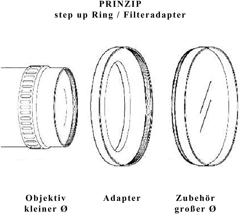 LUMOS Anillo adaptador de filtro Step Up 40,5 43 Anillo adaptador de filtro de metal para objetivo de c/ámara con rosca de filtro de 40,5 mm a accesorios de 43 mm