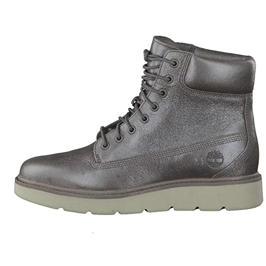 Timberland Damen Stiefel Kenniston 6 Inch Lace Up Boot Leder Steeple Grey Metallic Silber A1IRN