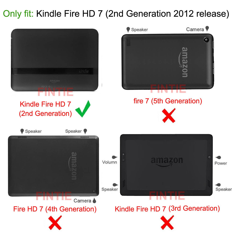 amazon com fintie folio case for kindle fire hd 7 2012 old model