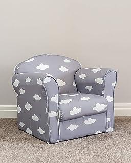 Superb Childrens Kids Blue Rocker Armchair Chair And Foot Stool Inzonedesignstudio Interior Chair Design Inzonedesignstudiocom