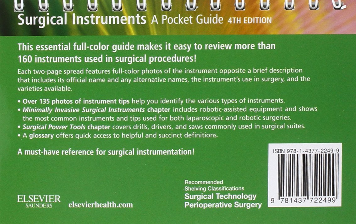Surgical Instruments: A Pocket Guide by Brand: Saunders