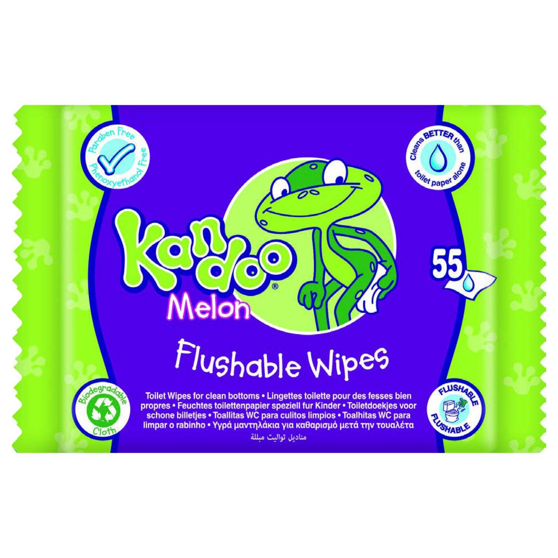 KANDOO Pack de 55 Lingettes Melon Nouvelle Formule