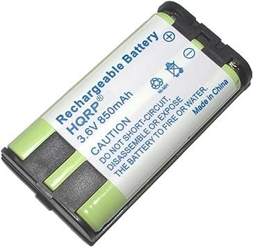 HQRP Batería para Teléfono inalámbrico Panasonic KX-TG5566 / KX-TG5571 / KX-TG5576 / KX-TG5583 + HQRP Posavasos: Amazon.es: Electrónica