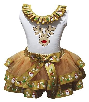 Petitebella Keep Clam Wait Santa White Shirt Red Snowflake Outfit Set 1-8y